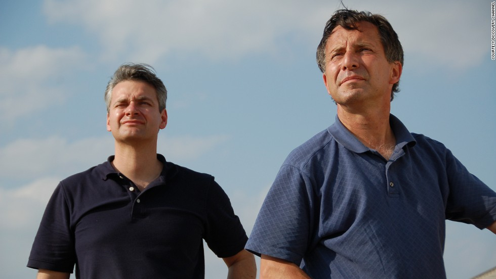 Carl Young and Tim Samaras watch the sky. Over a decade the pair tracked more than 125 tornadoes together.