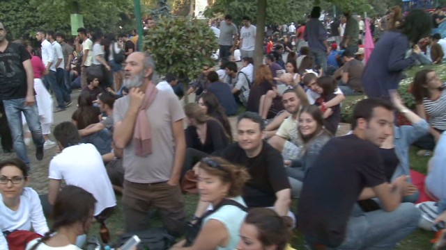 Gezi Park protests peaceful for now