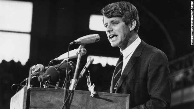 Columnist Terence Moore gets chills when he recalls the day he and Robert F. Kennedy, pictured in 1968, touched hands.