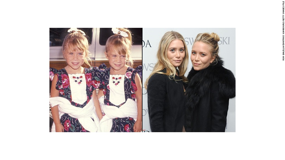 "Mary-Kate y Ashley Olsen, estrellas infantiles de ""Full House""."