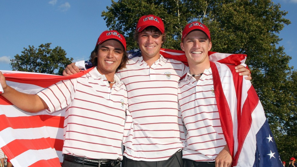Leading PGA Tour professional Rickie Fowler (left) was among the victorious American Walker Cup team which beat Great Britain and Northern Ireland in the last major event to be staged at Merion in 2009.