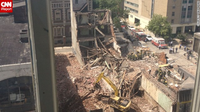 Witness describes how building fell