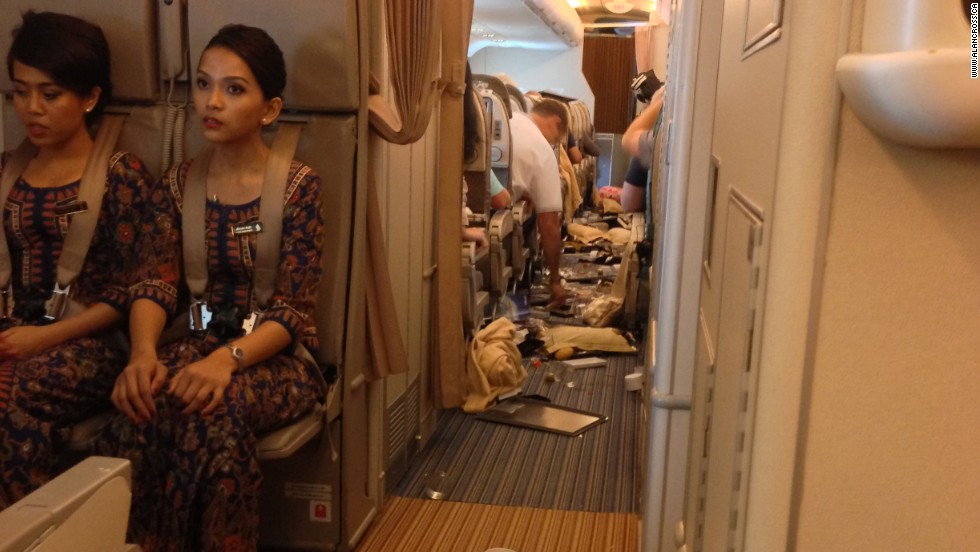 Cabin crew were told to return to their seats mid-way through the meal service.