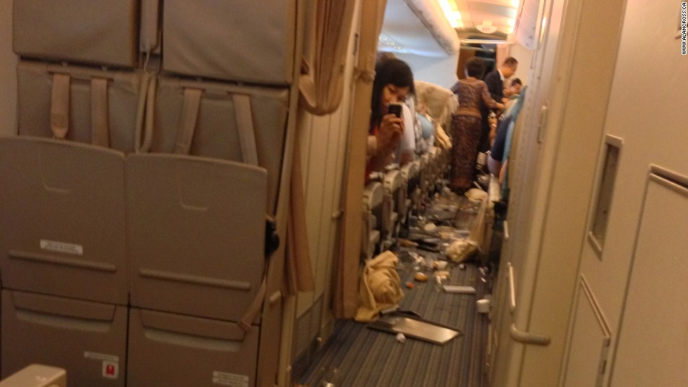 Minor injuries to passengers and crew were reported by the airline.