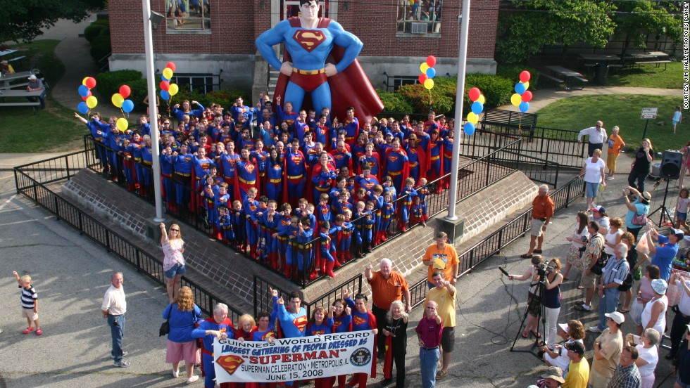 "For the 2013 event, organizers plan to host a Guinness World Record for ""largest gathering of people dressed as Superman,"" which it last achieved in 2008 before being beaten by 437 Canadians."