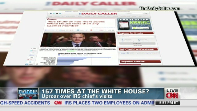 IRS head's White House visits overblown?