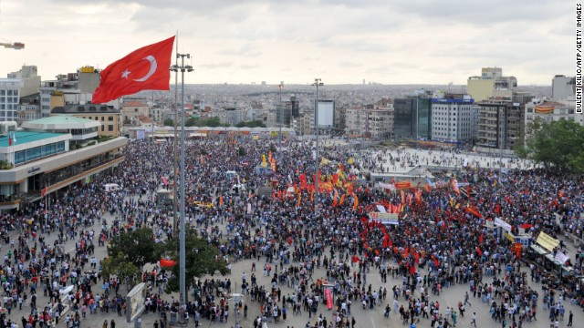The changing tone of Turkish protests
