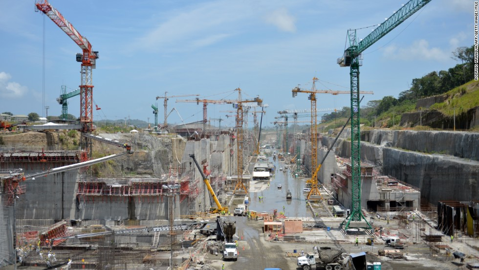 The Panama canal is being upgraded at a cost of $5.25 billion to ensure it is capable of handling the ever-increasing size of the world's biggest cargo ships.