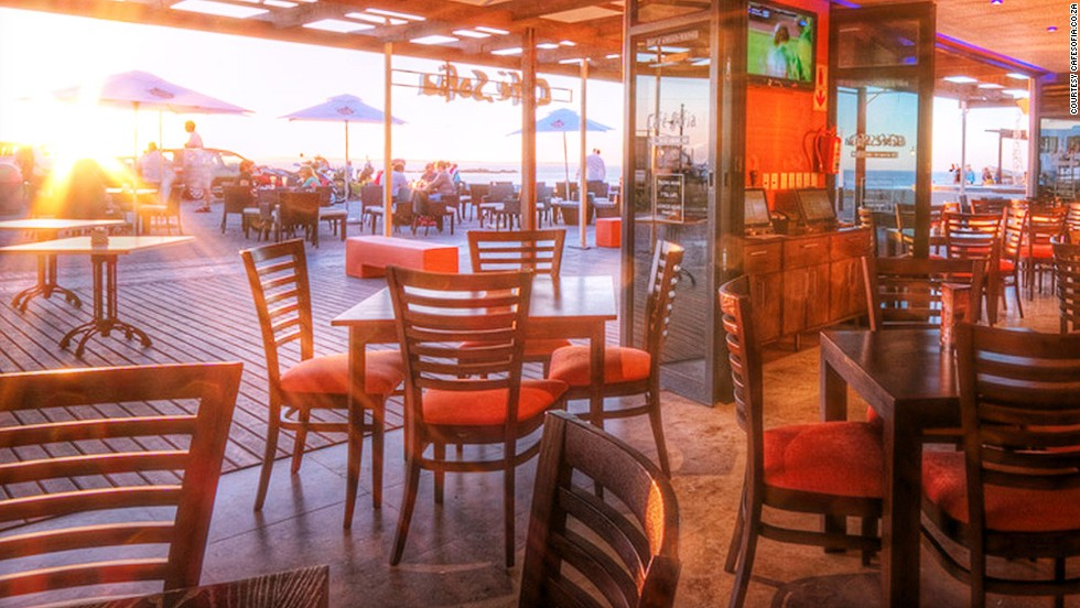 Cafe Sofia Beach Bar, number 16, manages to straddle the line between hectic party place and after-work chill spot.