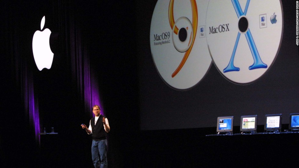 At this WWDC, Jobs announced that Apple's Mac OS X would be pre-installed along with Mac OS 9 in all new Mac computers.