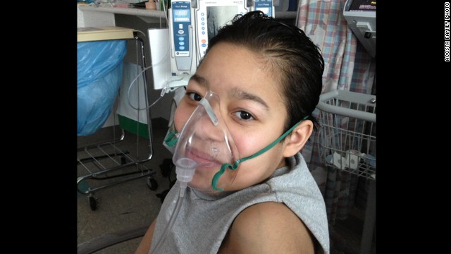Javier Acosta, 11-year-old, is severely ill and awaiting a lung transplant.
