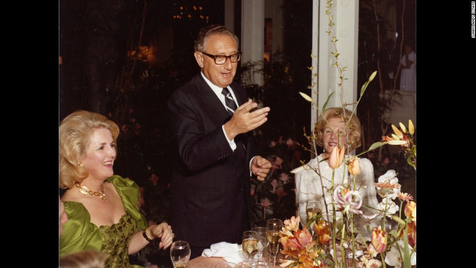 Henry Kissinger delivers a toast during a dinner at Sunnylands in this undated photo. He was secretary of state from September 1973 to January 1977.