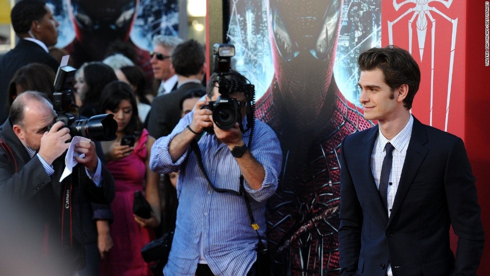 "As if three movies full of Spider-Man weren't enough, yet another incarnation of Spidey's Spandex popped up. Actor Andrew Garfield is shown here at the premiere of ""The Amazing Spider-Man"" in Los Angeles in June 2012."