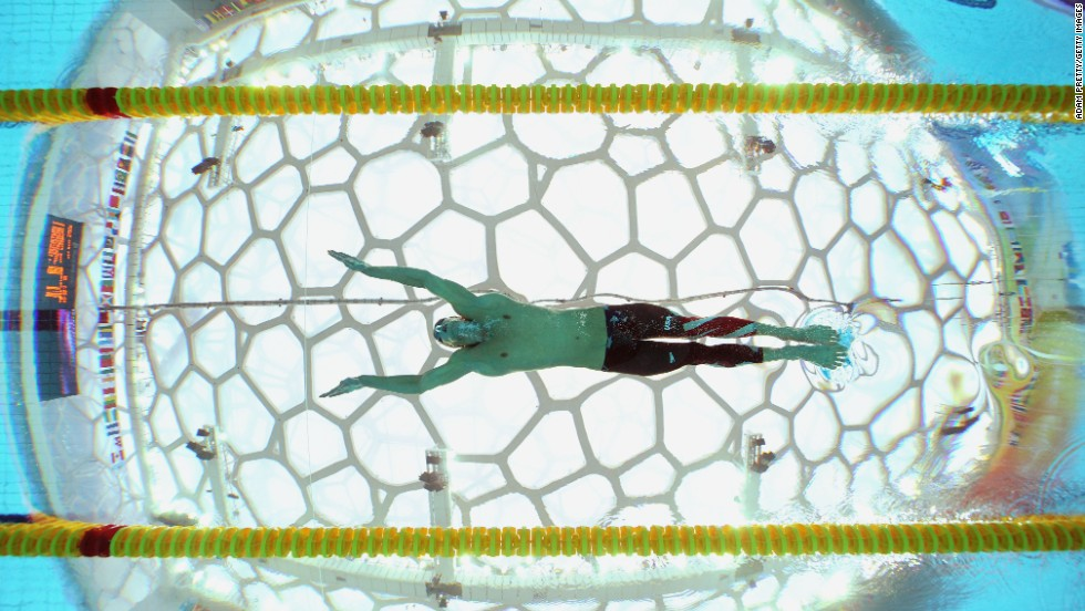 U.S. swimmer Michael Phelps looks like a butterfly at the 2008 Olympics in Beijing. He's shown here swimming a 200-meter event, a distance for which he achieved a silver medal. He earned a gold medal in the 100-meter butterfly.