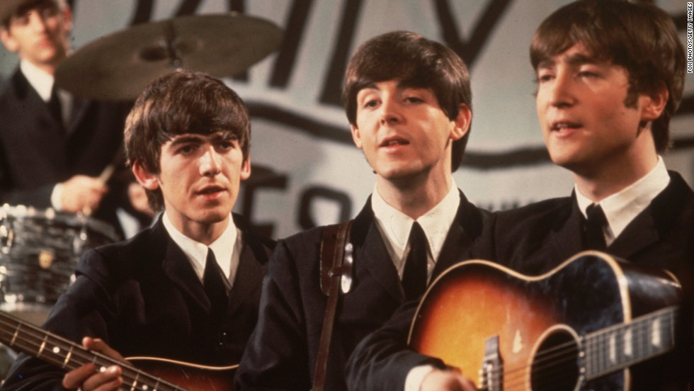 The Beatles are perhaps the most famous insect-named band of all time -- well that, and the most famous band of all time. Left to right in the foreground is George Harrison, Paul McCartney, and John Lennon, while drummer Ringo Star keeps the beat in the back. George Harrison died in November 2001.