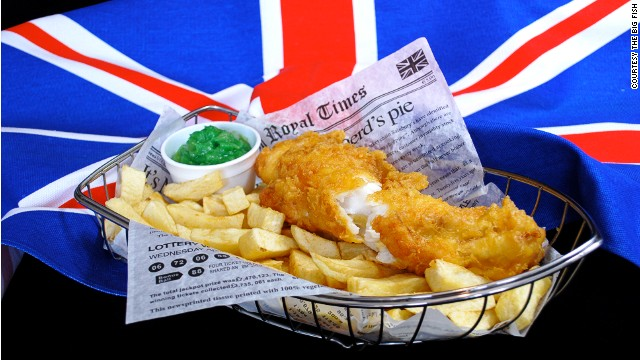 Right royal portion: Britain's national dish, as served  by The Big Fish restaurant in Stratford-upon-Avon.