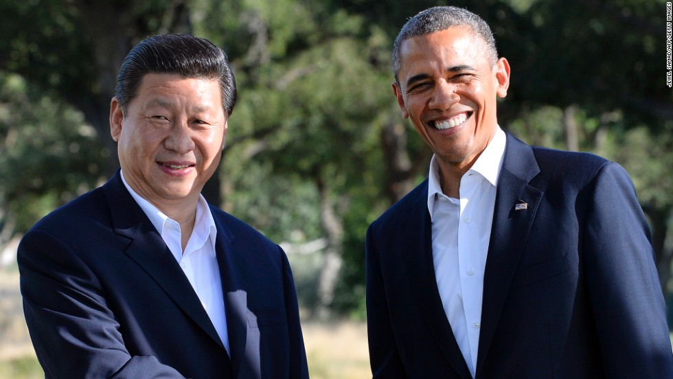 President Barack Obama shakes hands with Chinese President Xi Jinping before their bilateral meeting at the Annenberg Retreat at Sunnylands in Rancho Mirage, California, on June 7. The retreat has been the site of many presidential and celebrity visits through the years.
