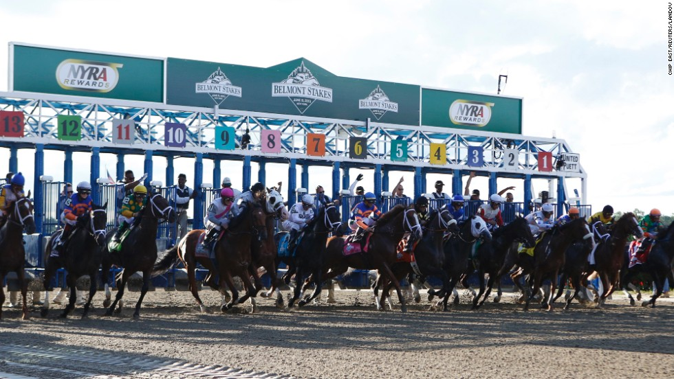 The field leaves the starting gate.