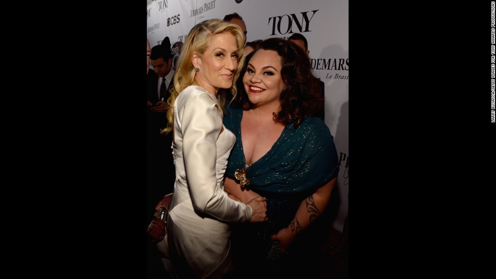 Judith Light, left, and Keala Settle attend the Tony Awards.