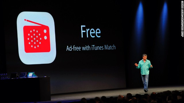 Eddy Cue, Apple's Senior Vice President of Internet Software and Services, introduces iTunes Radio at Apple's Worldwide Developer Conference (WWDC) in San Francisco on June 10, 2013. AFP PHOTO/Josh Edelson (Photo credit should read Josh Edelson/AFP/Getty Images)