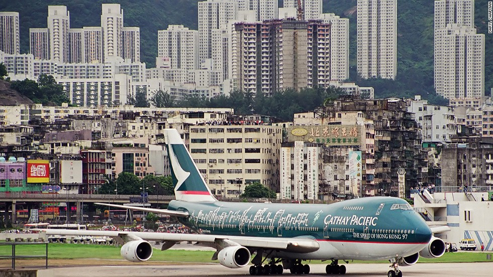 Hong Kong-based Cathay Pacific Airways began operations in 1946, before the plan for Kai Tak expansion and the promontory into Kowloon Bay was approved in 1954. (The first recorded flight from the site took place in 1925.) Cathay was the last carrier to take off from the airport in 1998.
