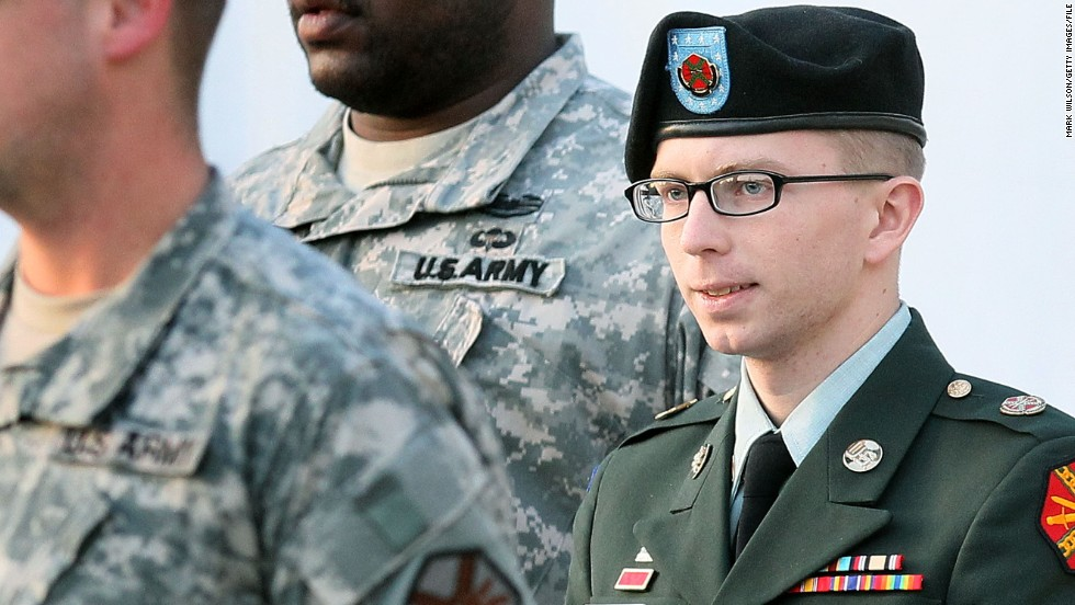 "Army Pvt. Bradley Manning was convicted July 30 of stealing and disseminating 750,000 pages of classified documents and videos to WikiLeaks, and the counts against him included violations of the Espionage Act. He was found guilty of 20 of the 22 charges but acquitted of the most serious charge -- aiding the enemy. Manning <a href=""http://www.cnn.com/2013/08/21/us/bradley-manning-sentencing/index.html"">was sentenced to 35 years in military prison</a> in 2013."