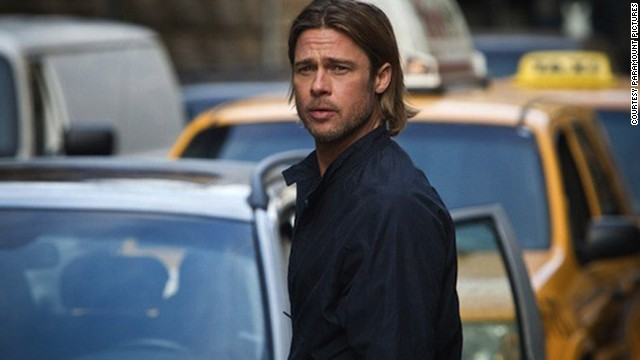 "Brad Pitt stars as Gerry Lane in ""World War Z."""