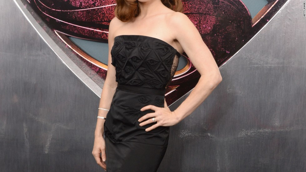 "Amy Adams, aka Lois Lane, attends the ""Man of Steel"" premiere."