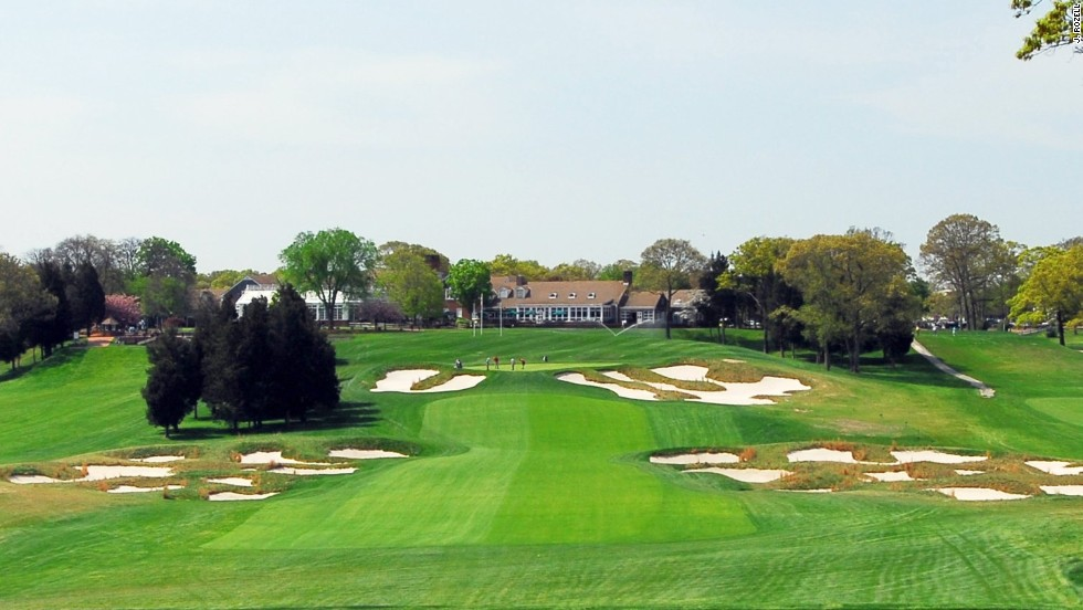 The toughest of five courses at Bethpage State Park on Long Island, Bethpage Black joined the U.S. Open roster in 2002 after the USGA decided to bring its flagship tournament to a public venue. Green fee: $130 weekdays, $150 weekends.