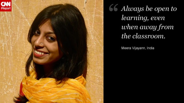 Meera Vijayan said she felt proud that she had managed to leave her small town and follow her dreams in Bangalore, India.
