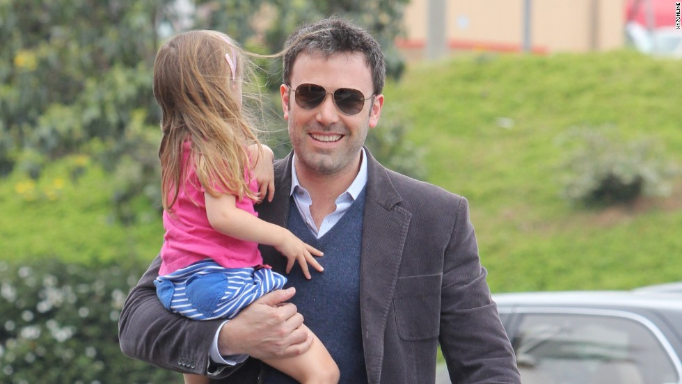 Ben Affleck heads to daughter Violet's ballet recital on Mother's Day 2012.