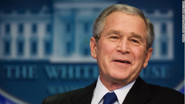 US President George W. Bush smiles during a press conference 04 December 2007 in the Brady Briefing Room of the White House in Washington, DC. Bush spoke to the press a day after US intelligence report said Iran halted its nuclear weapons programme four years ago.