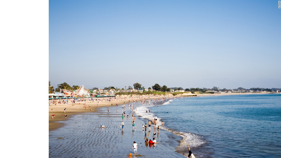 Santa Cruz, California, is home to the Beach Boardwalk amusement park and Henry Cowell Redwoods State Park.