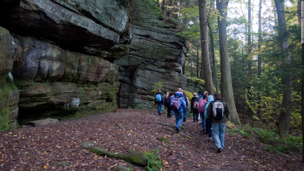 Visitors to the park can stroll to the Ledges from a park parking lot or see it as part of a 2.2-mile loop trail.