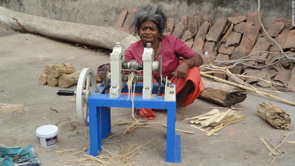 Paresh Panchal's bamboo splint-making machine makes it possible for people in isolated villages to make incense sticks at low cost. Bamboo splint-making has been done manually for years using knives, which can be tedious, time-consuming and risky. The machine was awarded at the 7th annual presidential grassroots innovation awards in March, 2013.
