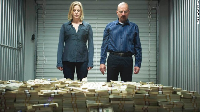 "Anna Gunn as Skyler White and Bryan Cranston as Walter White  in ""Breaking Bad."""