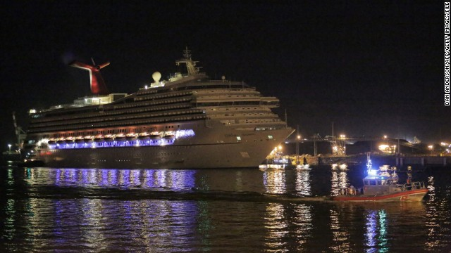 In February, the Carnival cruise ship Triumph was stranded for days after an engine fire crippled the ship.