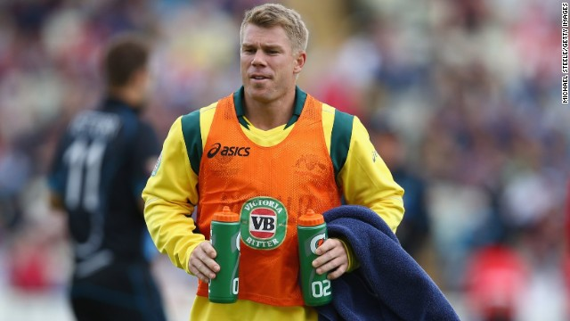 Australian cricketer David Warner sat out his country's match with New Zealand on Wednesday.