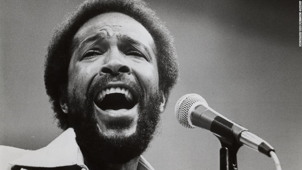 "Marvin Gaye, pictured in 1984, sang a <a href=""http://www.npr.org/templates/story/story.php?storyId=985241"" target=""_blank"">memorable but untraditional version</a> during the 1983 NBA All-Star Game."