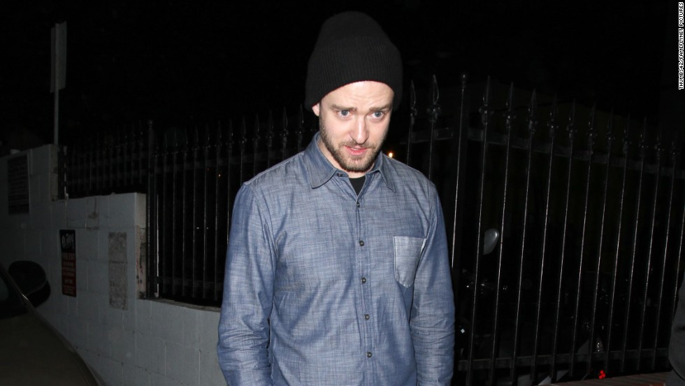 Justin Timberlake leaves the El Rey Theatre after attending the MySpace event in Los Angeles, California.
