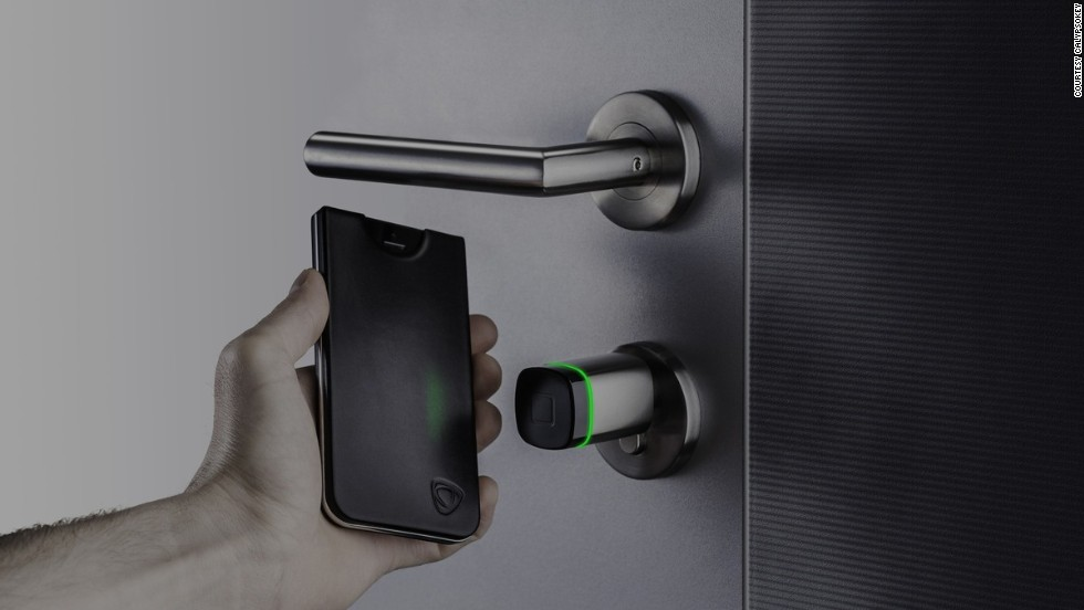 """These days you're more likely to forget your house keys than your smartphone, so combine the two with <a href=""""http://www.calypsocrystal.com/blog/calypsokey"""" target=""""_blank"""">CalypsoKey</a>. It lives inside an iPhone case which, when you tap it to its corresponding access point, activates near-field communication technology and a dual-band RFID antenna - unlocking the door."""
