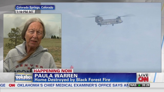 Woman loses home in Colorado wildfire