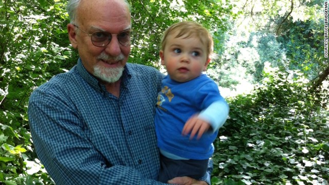Bruce Bridgeman, shown with his grandson Nicholas Bridgeman Fields, can see the details of trees again.