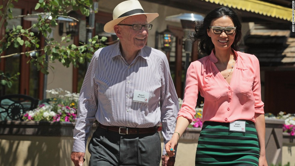 After they met, Deng went on to work at Star TV, a Hong Kong-based television service under Murdoch's corporate umbrella. Above, Murdoch and Deng attend the Allen & Company Sun Valley Conference in Sun Valley, Idaho, on July 8, 2011.