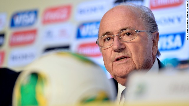 Sepp Blatter is in Brazil for the start of the Confederations Cup this weekend.