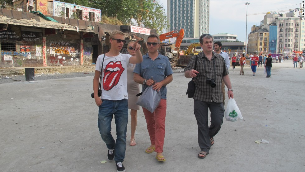 The Estonian family from Tallinn were on holiday staying in a hotel near Taksim Square.