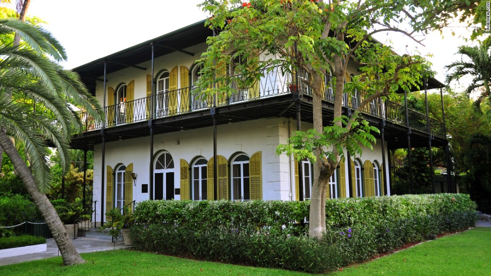 Ernest Hemingway's former home in Key West is a top tourist draw. The six-toed cats lounging around the property have earned a reputation of their own.