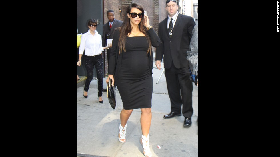 Kim Kardashian's fashion choices are as clear as black and white, as seen here in April.