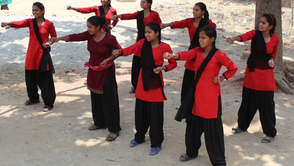 The Red Brigade is a group of young girls from one of India's poorest states who patrol the streets of their neighborhood ensuring women and girls are safe.