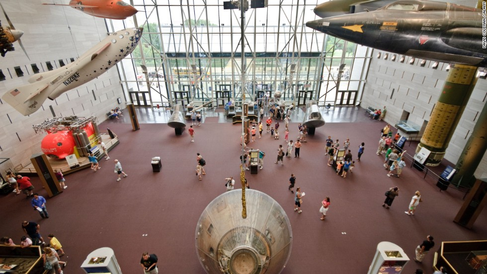 The National Zoo, National Museum of Natural History and National Air and Space Museum, shown here, are the biggest crowd-pleasers among the 18 Smithsonian institutions in Washington, D.C. -- and admission is free.